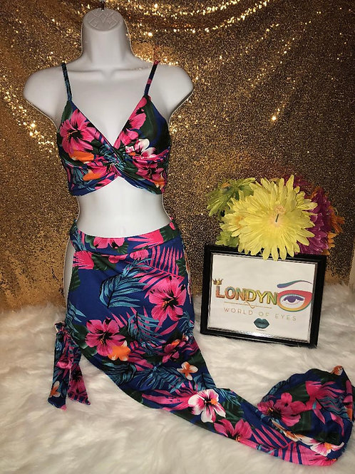 Flower Blossom 2 Piece beach set