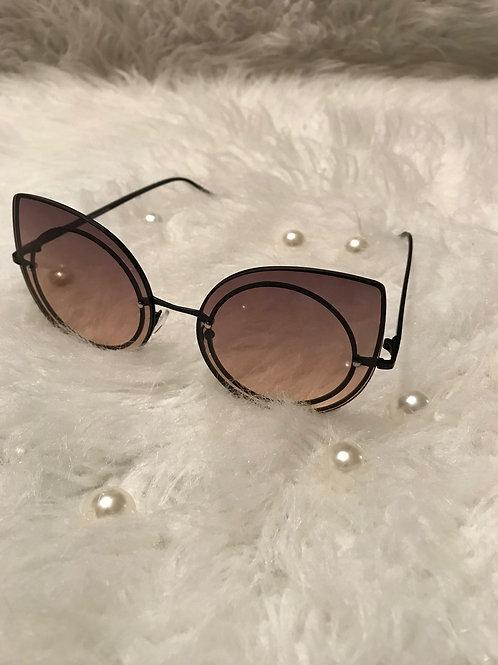 Kateye rimmed Brown sunglasses