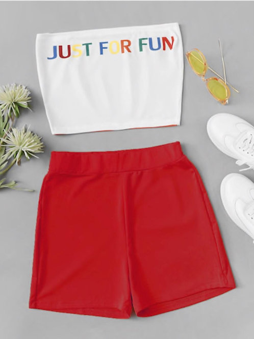 Just for fun (red) 2 piece set