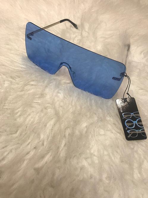 Oversized Blue sunglasses