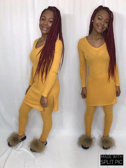 Simply Me 2 piece set Mustard color