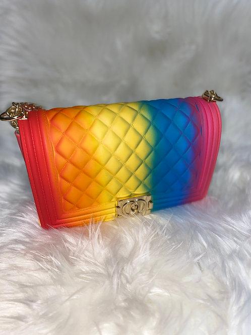 Fashionista rainbow purse
