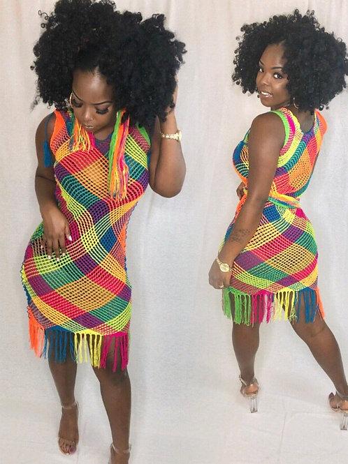 Colorful Net Dress