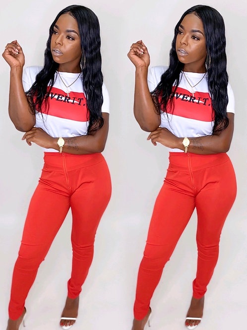 Over it red 2 piece set