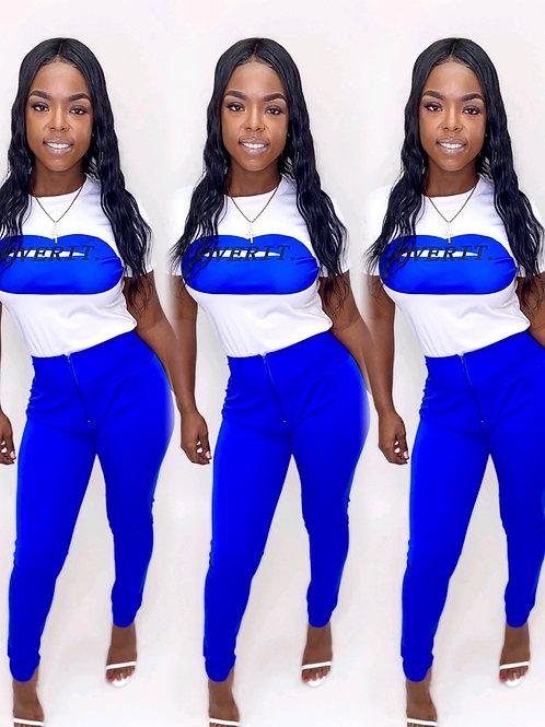 Over it blue 2 piece set