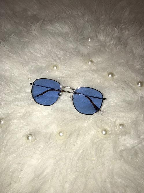 Small Round Blue sunglasses