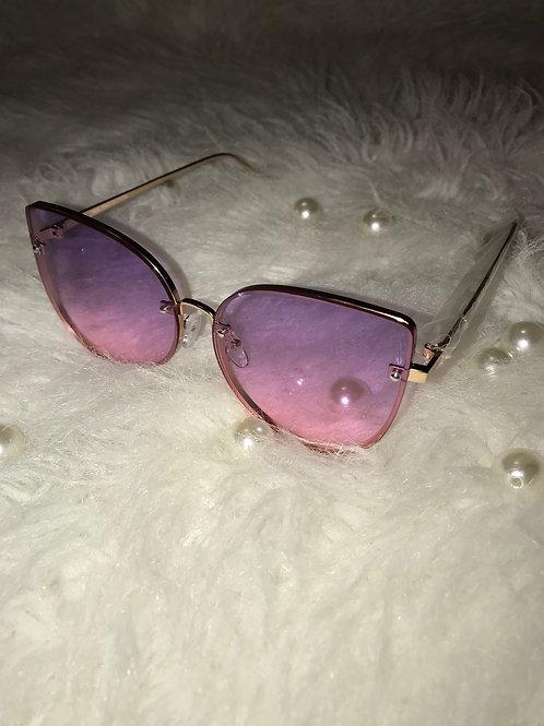 Kat eyes purple  sunglasses