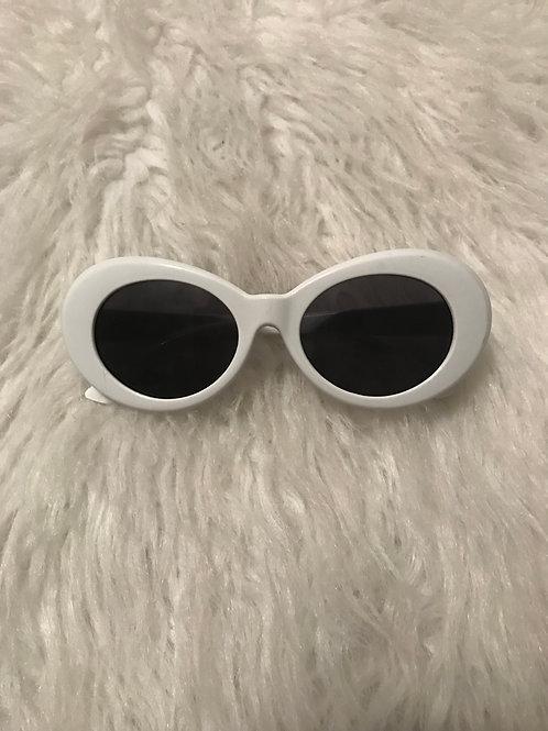 Round the way Girl white sunglasses