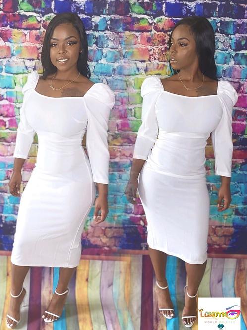 Cute simple white dress