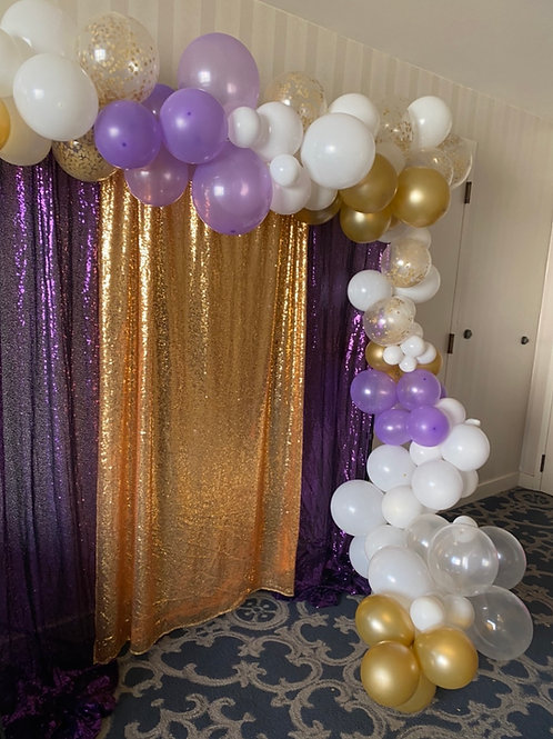 Back drop and balloon arch