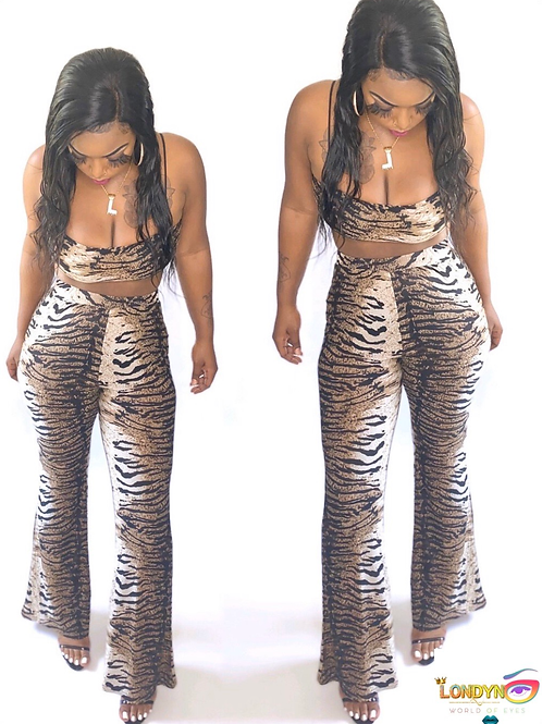 Animal print 2 piece sets