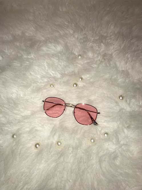 Small round pink sunglasses