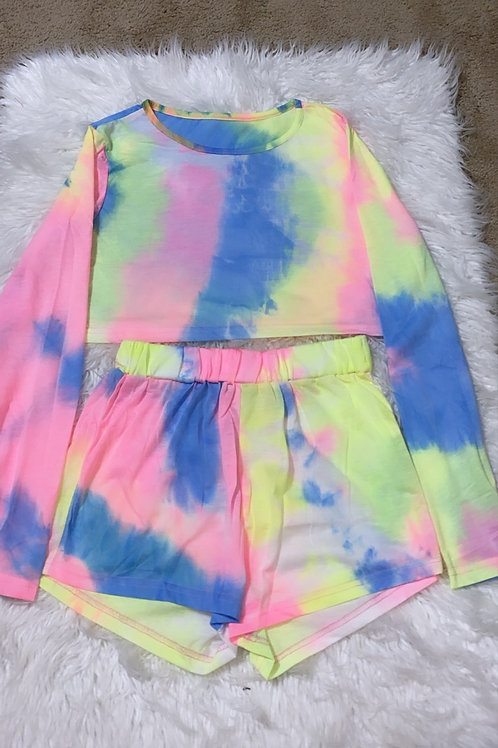 Tie dye 2 piece chill set