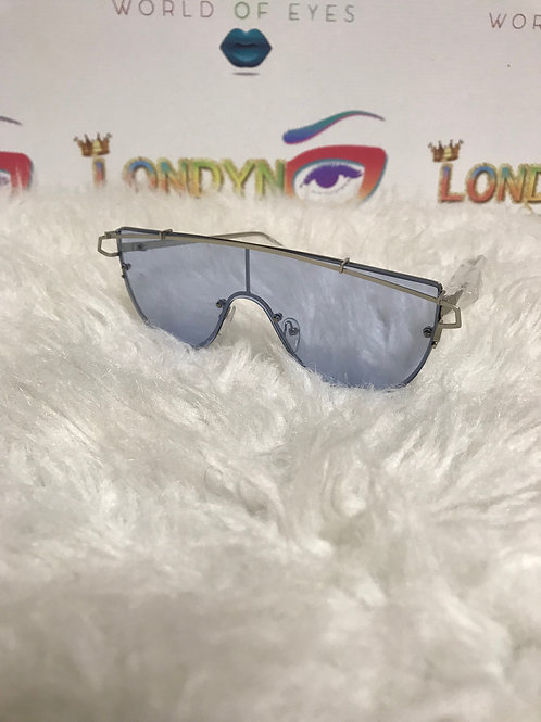 Blue Lazer Sunglasses