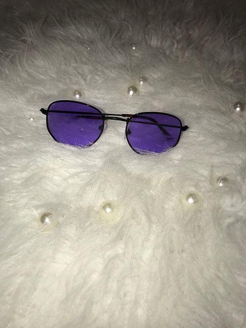 Small round purple sunglasses