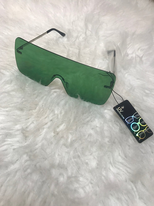 Oversized Green sunglasses