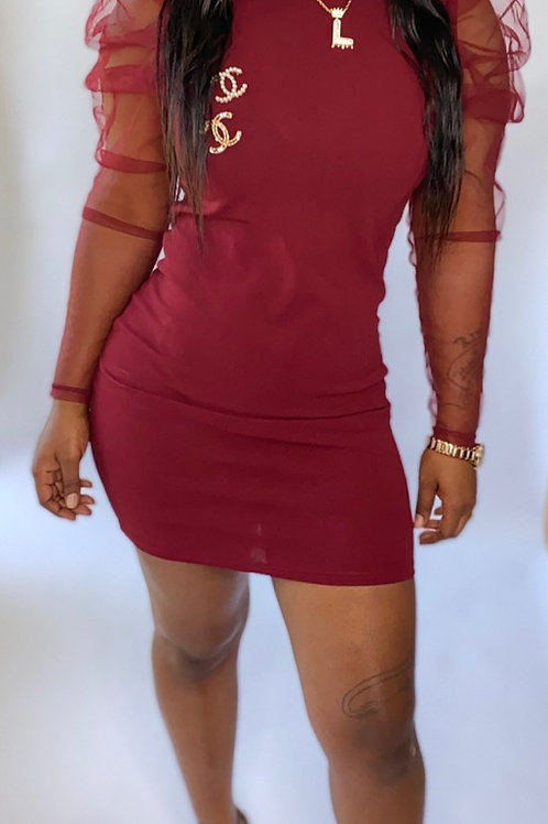 Little Burgundy dress