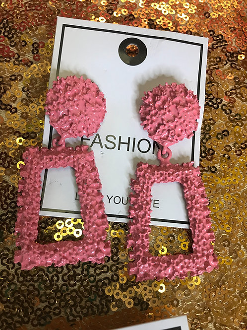 Light Pink Fashion Earrings