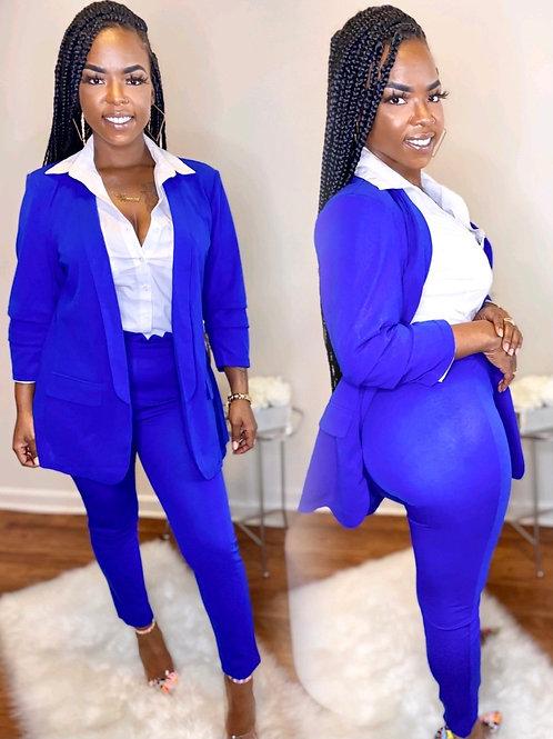 Boss up 2 piece pants suit