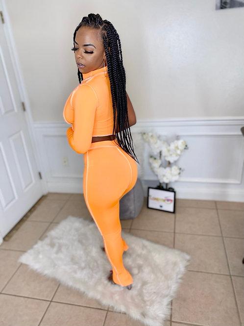 Oranges body con 2 piece set