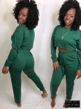 Stormy dark Green 2 piece set