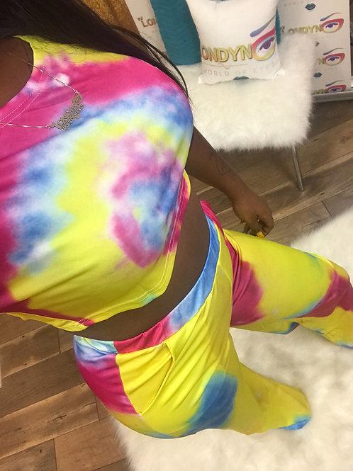 Tie dye 2 piece set