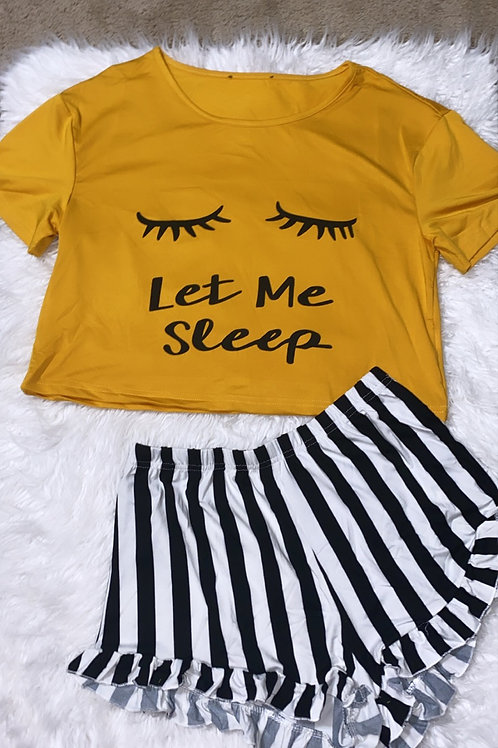 Let me sleep (mustard color)