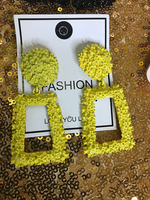 Yellow Fashion earrings
