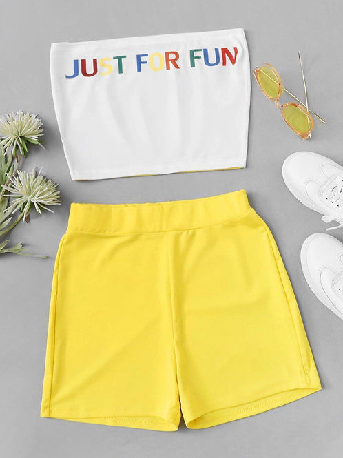 Just for fun (yellow) 2 piece set
