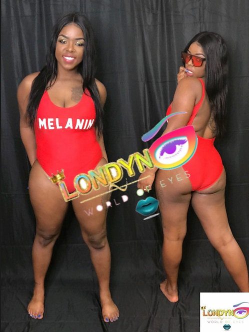 Melanin Red 1 piece swimsuits