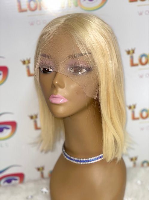 """10"""" Bob Lace front wig Blonde"""