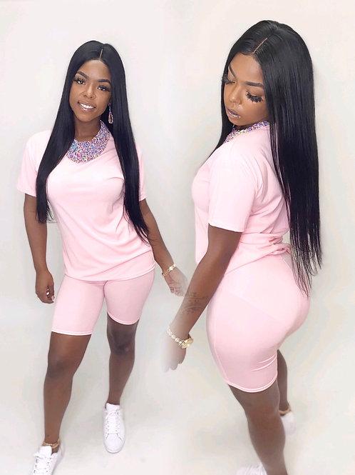 Light pink chill set