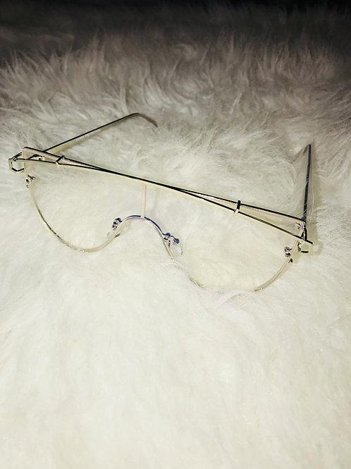 Clear Silver Lazer Sunglasses