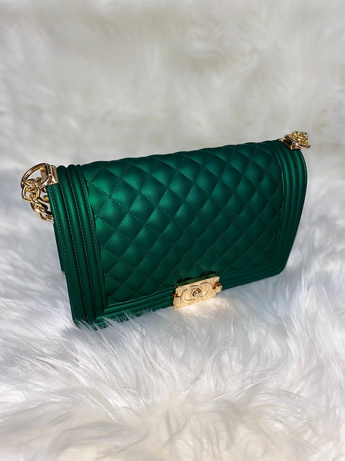 Green fashionista purse