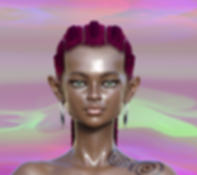 paola pinna art 3d artist arte artista digitale digital 3d avatar character virtual evelyn mora helsinky fashion week mutantboard koku model