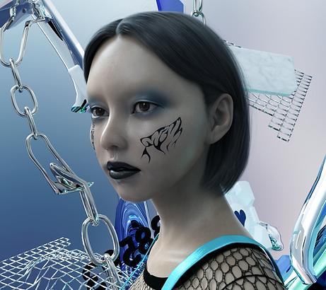Paola Pinna art artist 3d arte artista blender render avatar niko portrait 3d post internet digital