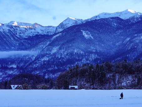Winter hiking in bohinj!
