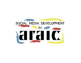 Araic Social Media Development Logo [Whi