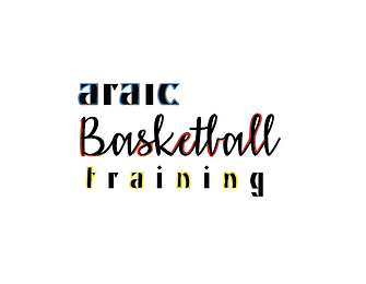 Araic Basketball Training Logo [White Ba
