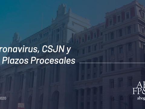 Coronavirus, CSJN y los plazos procesales