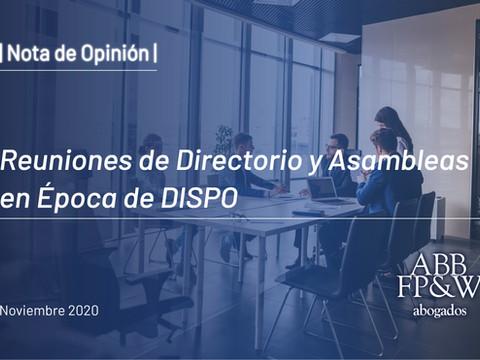 La Celebración de Reuniones de Directorio y Asambleas en Época de DISPO