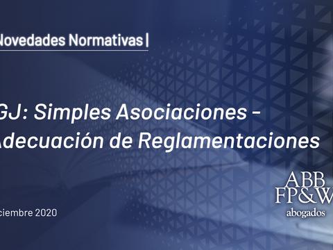 IGJ: Simples Asociaciones – Adecuación de Reglamentaciones