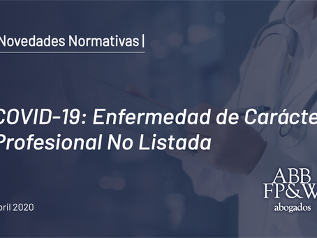 DNU 367/2020: COVID-19 Enfermedad de Carácter Profesional No Listada