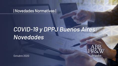 COVID-19 y DPPJ Buenos Aires: Novedades