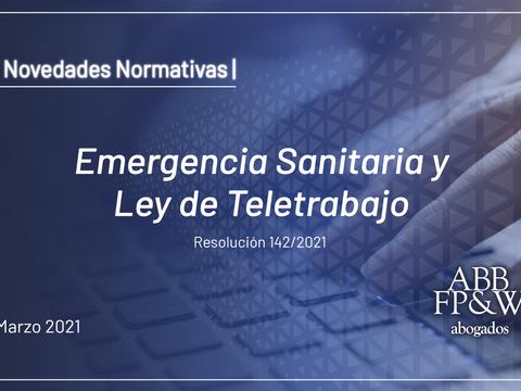 Emergencia Sanitaria y Ley de Teletrabajo