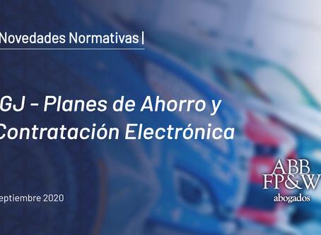 IGJ – Planes de Ahorro y Contratación Electrónica