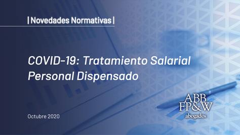 COVID-19: Tratamiento Salarial Personal Dispensado