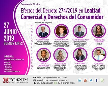 """Participación en el evento """"Efectos del Decreto 274/2019"""" de FORUM Foros y Conferencias"""