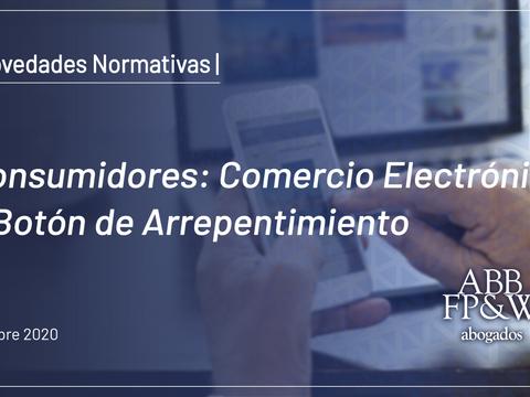 Consumidores: Comercio Electrónico y Botón de Arrepentimiento