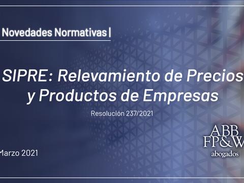 SIPRE: Relevamiento de Precios y Productos de Empresas